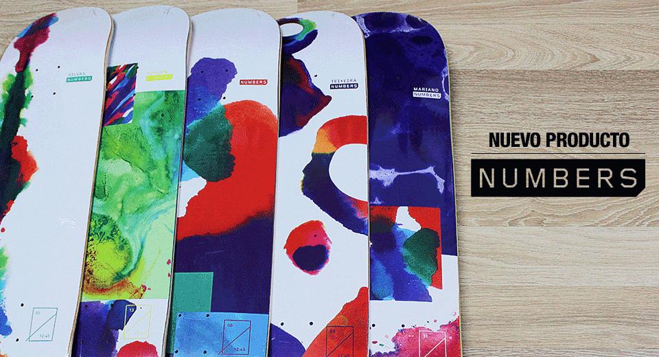 Nuevo producto Numbers México en CDC Skate Dist. Ventas al mayoreo,